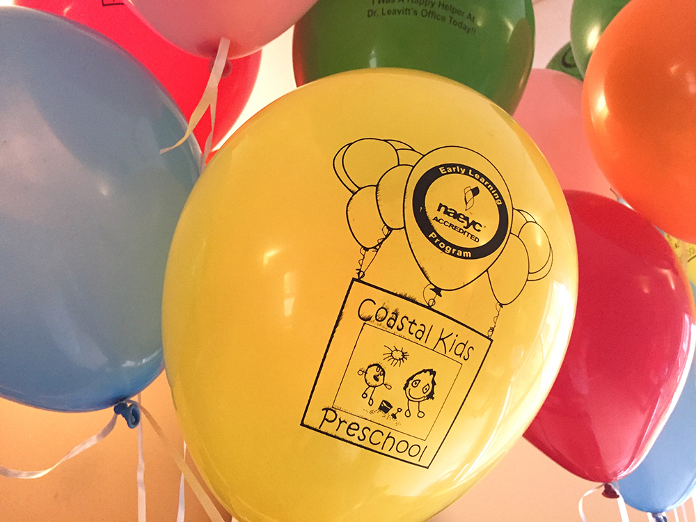 balloons with CKP and NAEYC logos